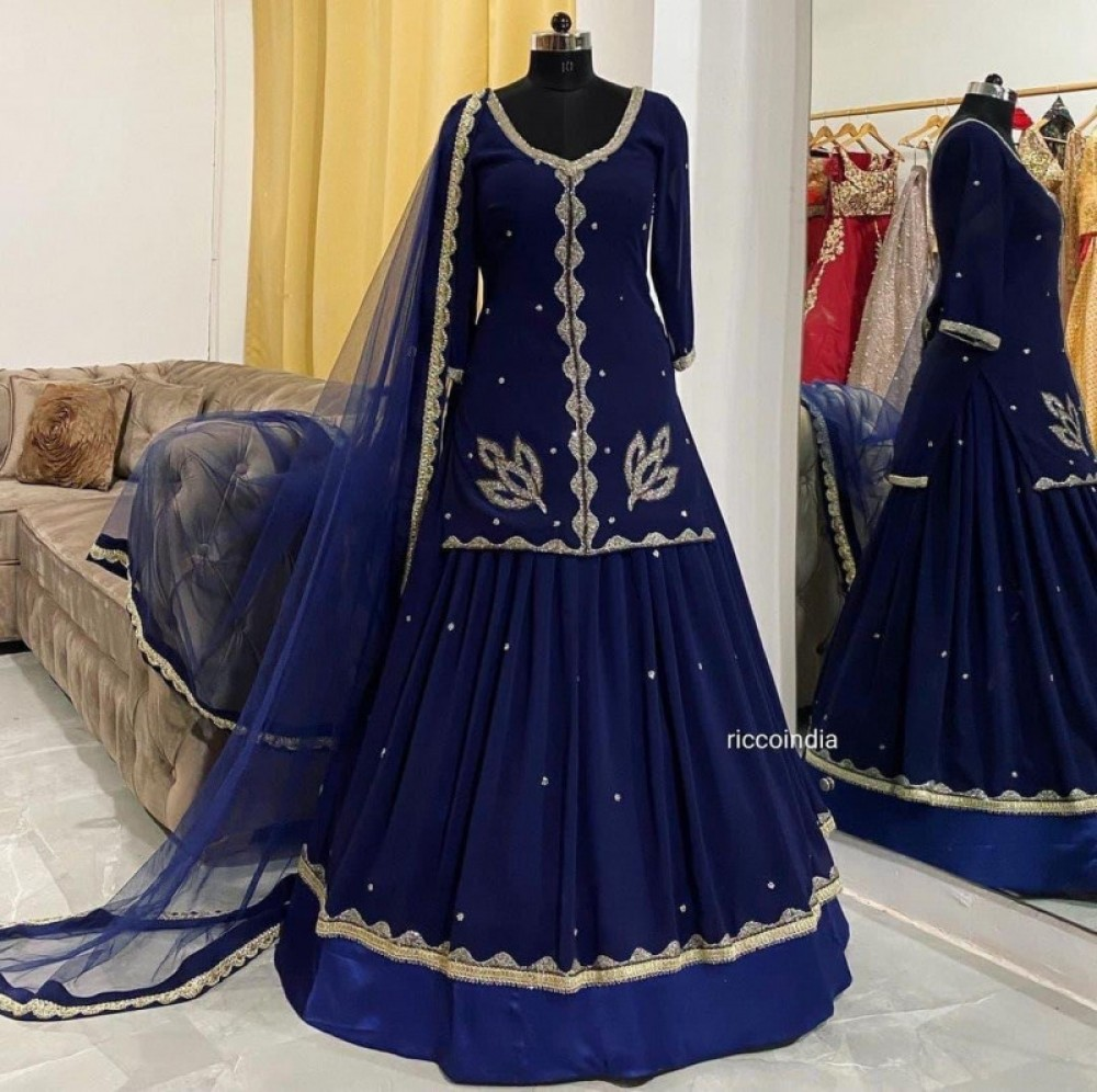 Sophisticated Blue lehenga with Top