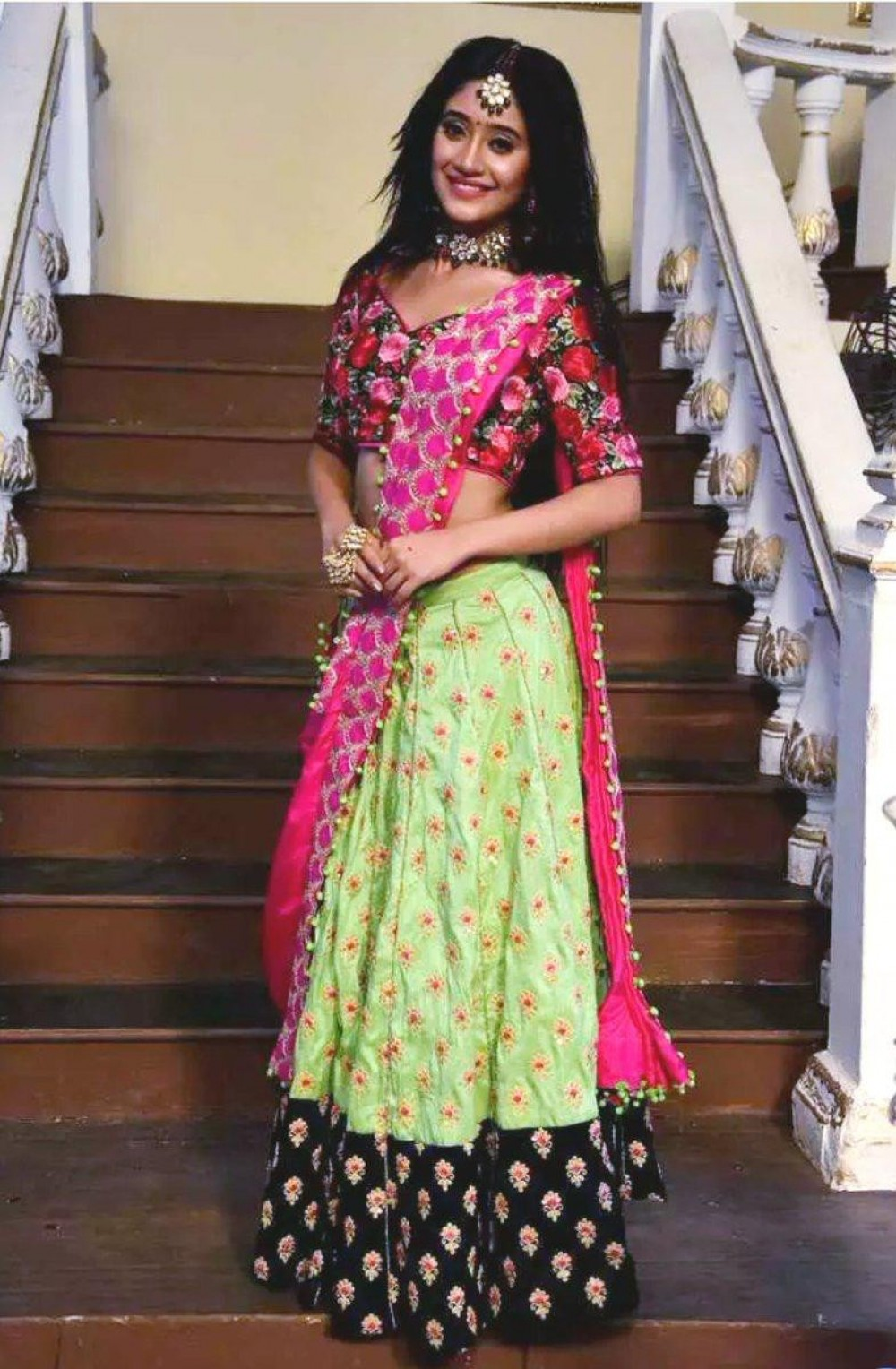 Elegant Parrot Lehenga Choli For