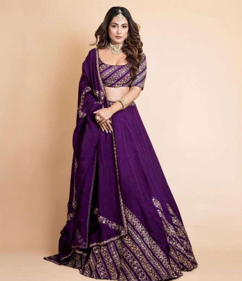 Engrossing Wine Lehenga Choli