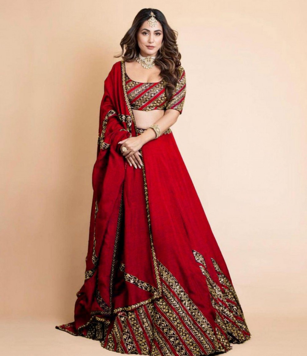 Exellent Maroon Lehenga Choli For Casual Wear