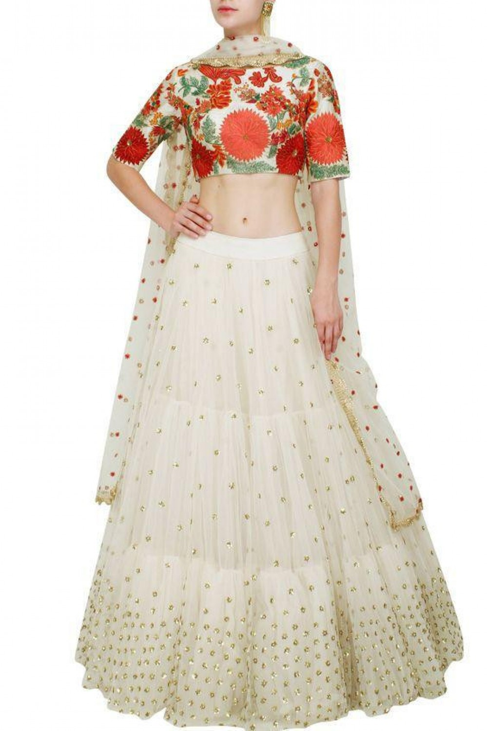 Fancy White Lehenga Choli For Festival Wear