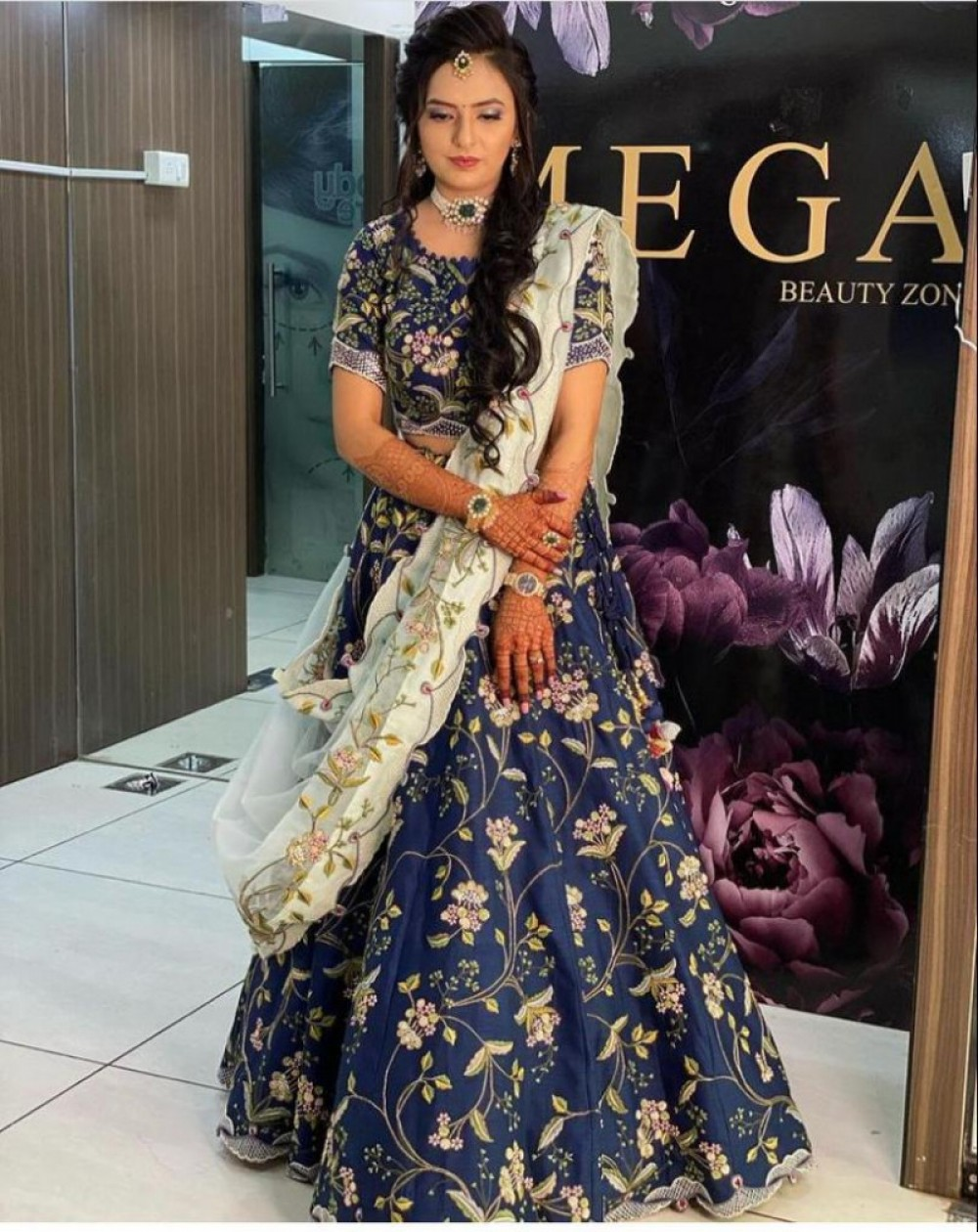Fantastic Blue Colour Casual Wear Lehenga Choli
