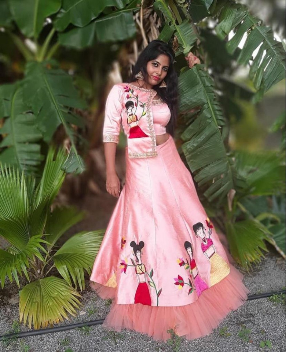 Majesty Most favorite Light Pink Festival Wear Lehenga With Ruffle Border