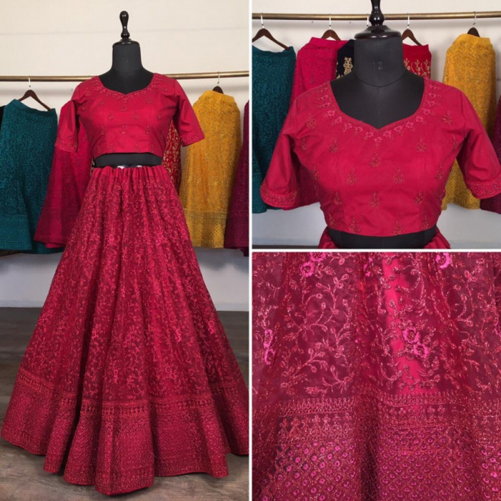 Meticulous Casual Wear Red Lehenga Choli For