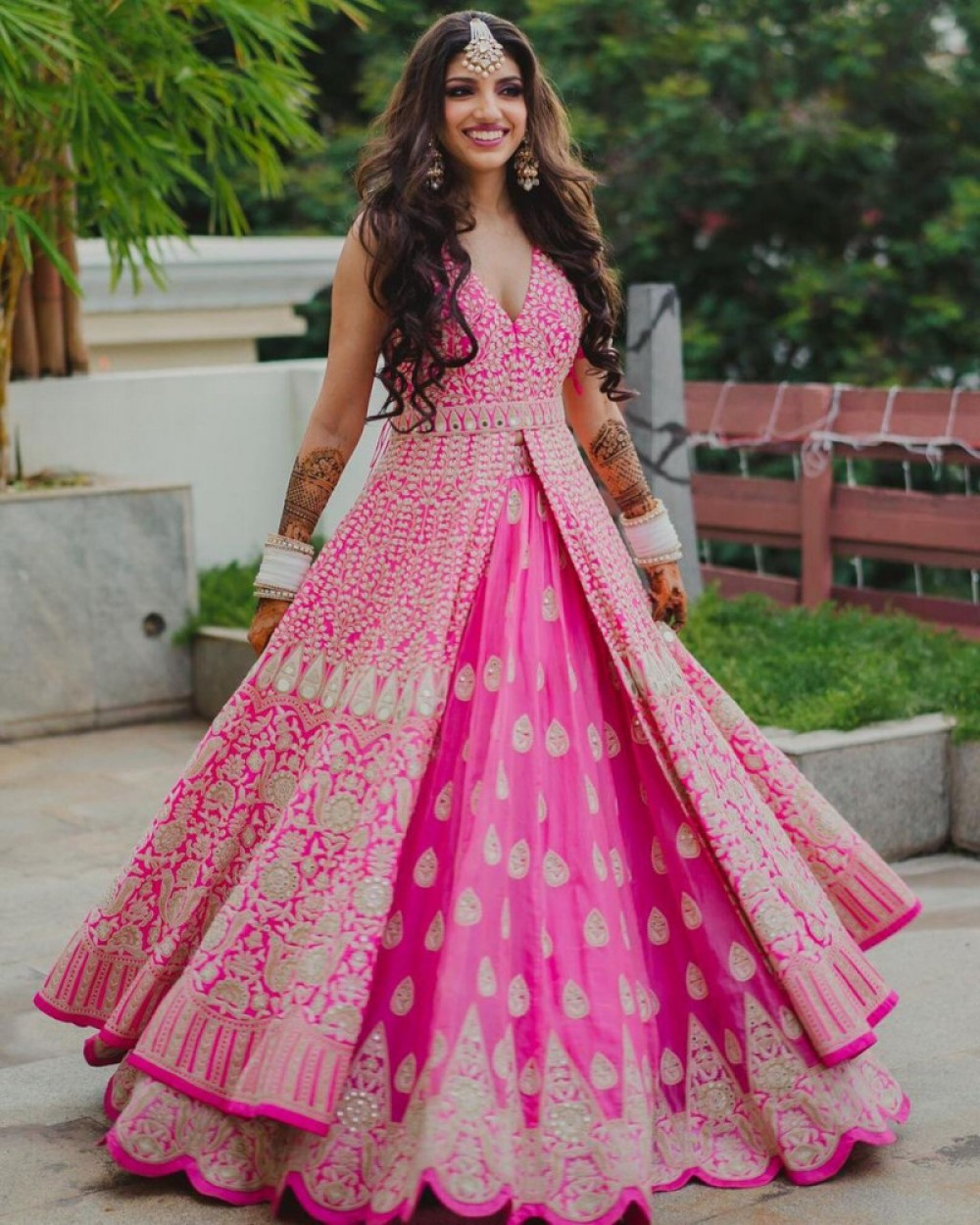 Peacefull Pink Top With Lehenga Online