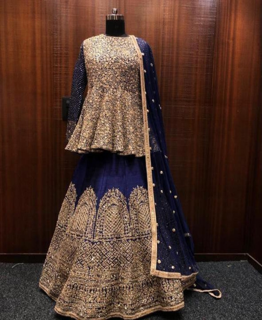 Preferable Fancy Maroon Velvent Lehenga Top For Casual