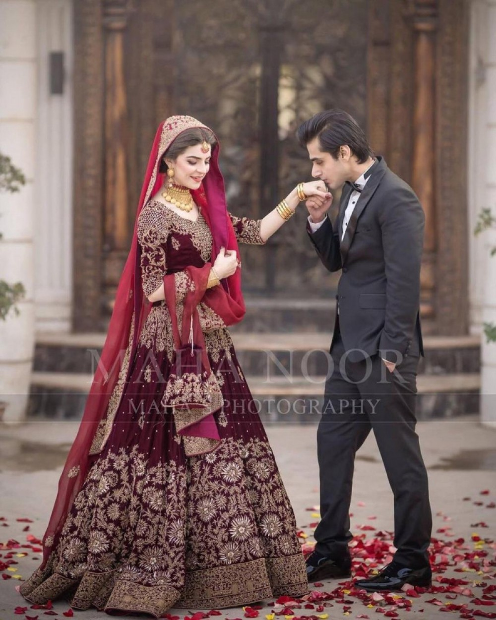 Pretty Casual Wear Maroon Lehenga For Bridel