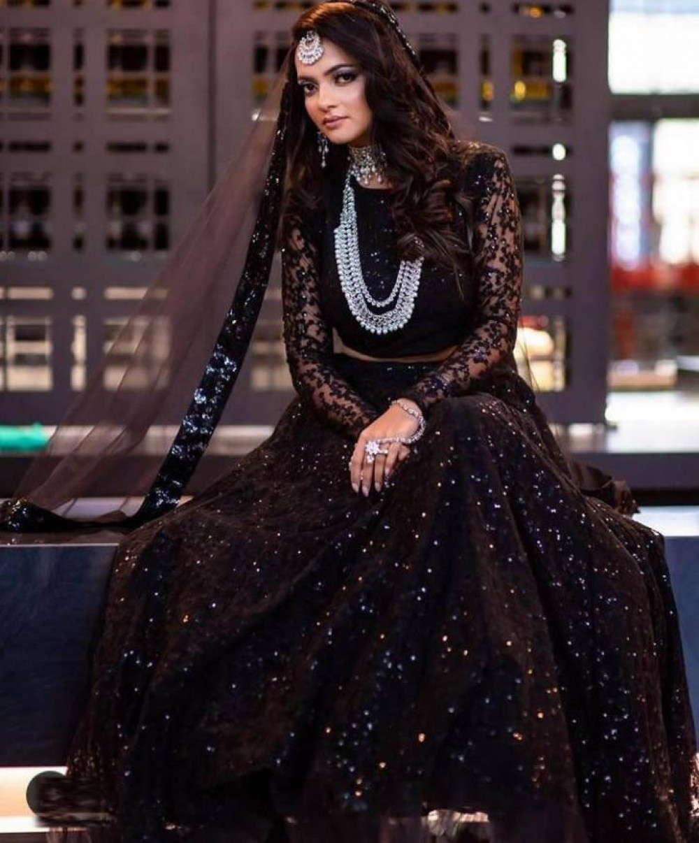 Radiant Black Fancy Lehenga Choli