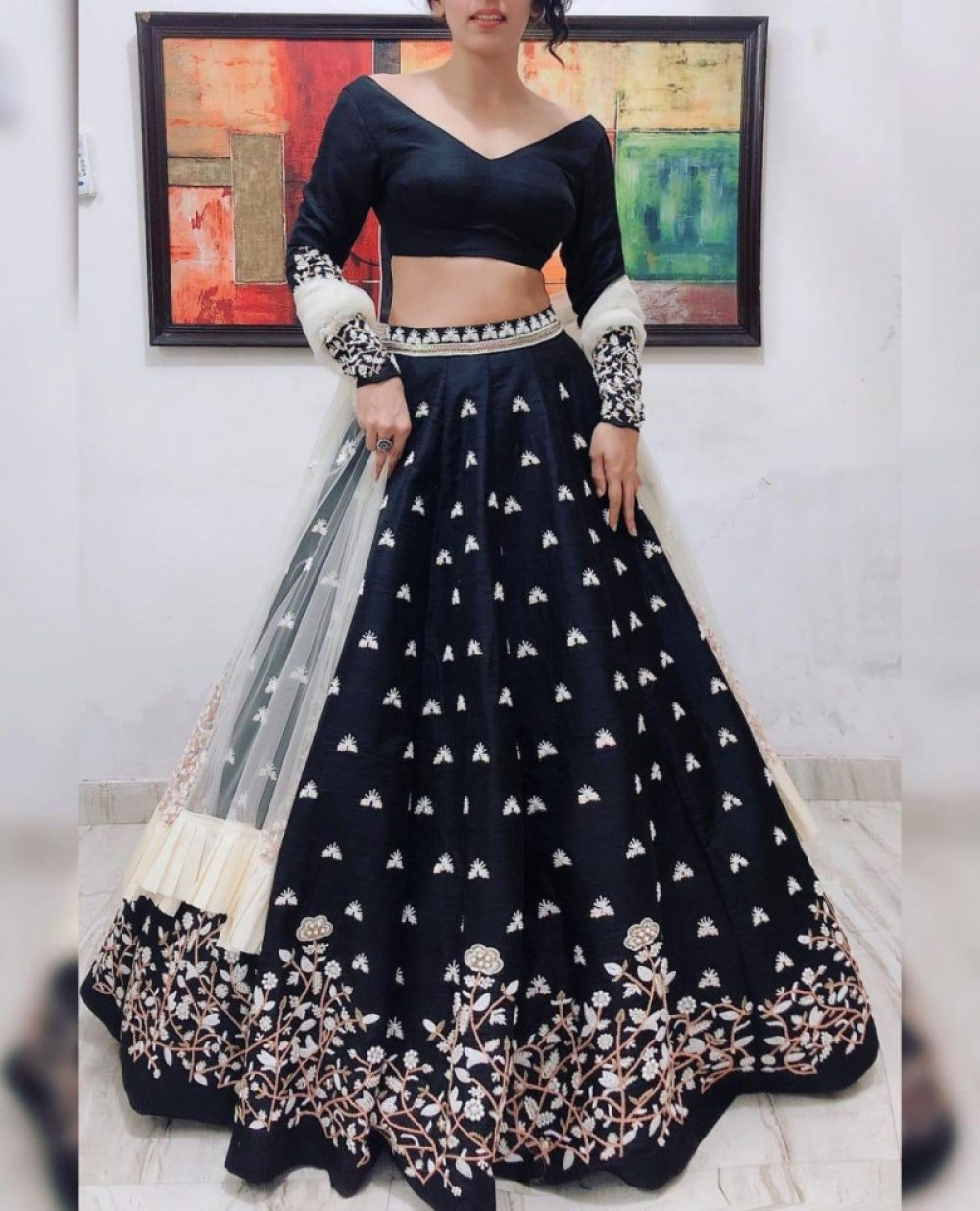 Ravishing Black Lehenga Choli For Festival Wear