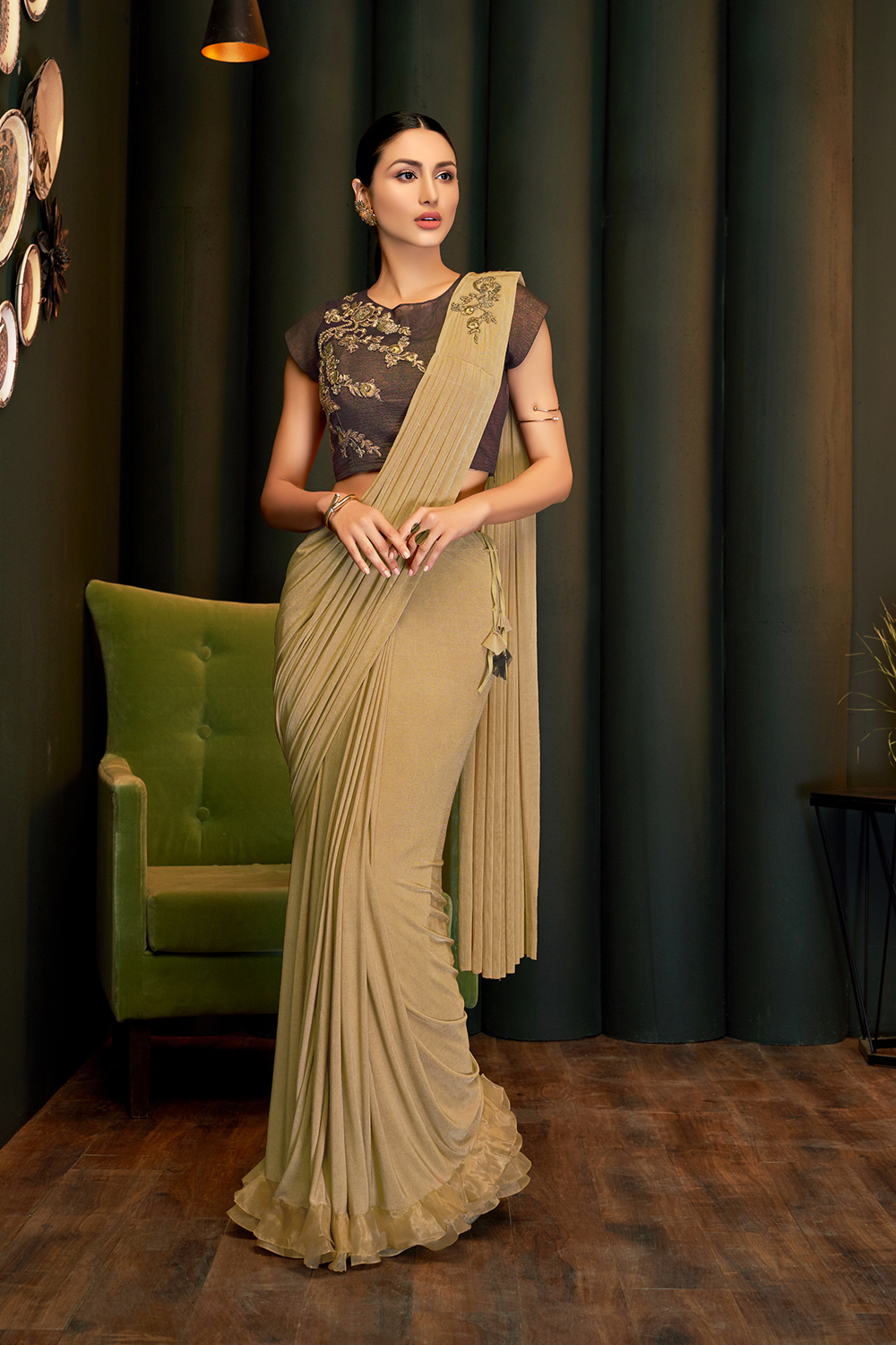 A classy   sophisticated and graceful saree
