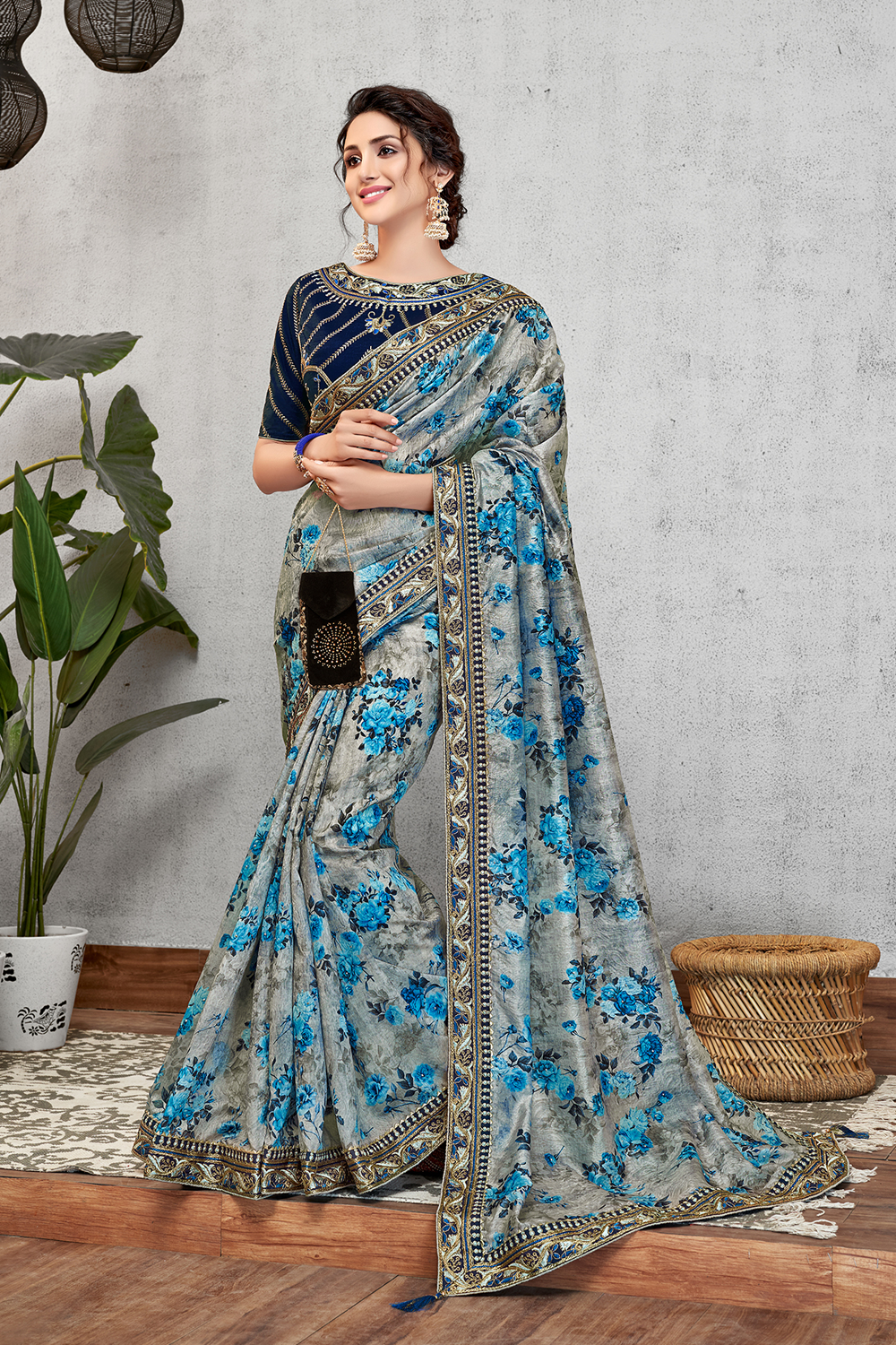 Florals  vivid colors and freshes taste saree