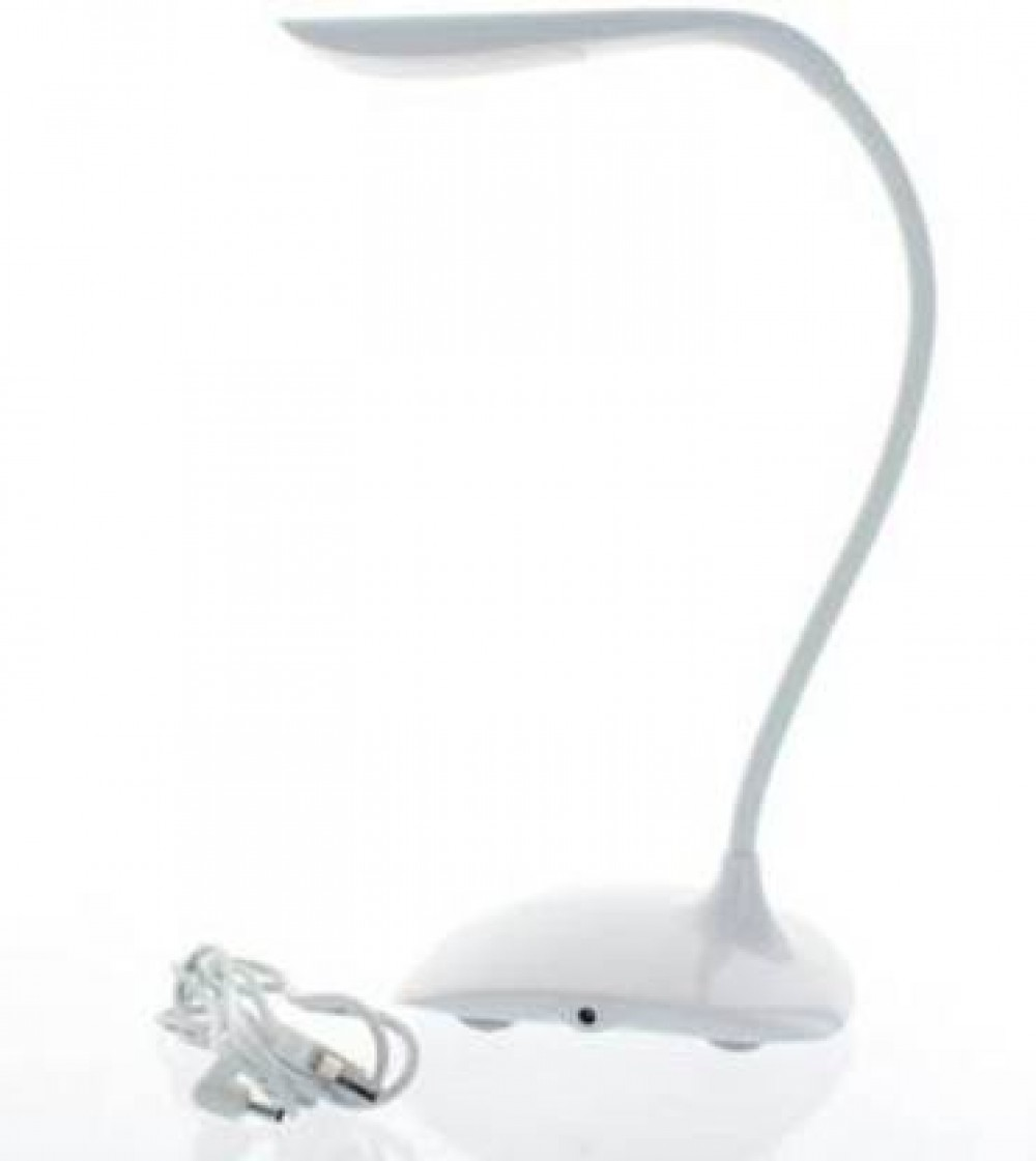 VARASANI TRADERS GELANI Rechargeable LED Touch On/Off Switch USB Charging(White) Study Lamp Table Lamp  (25 cm, White)