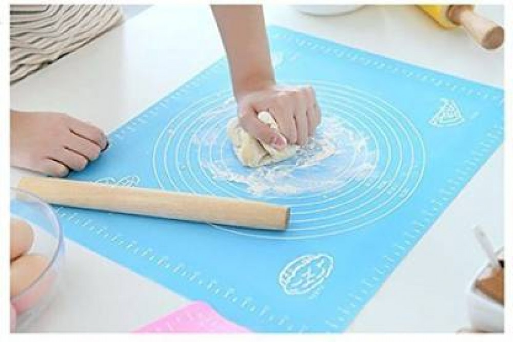 VTTRADE Non-Stick Silicon Reusable Pastry Fondant Dough Roti Chapati Rolling Baking Sheet Mat with Measurements