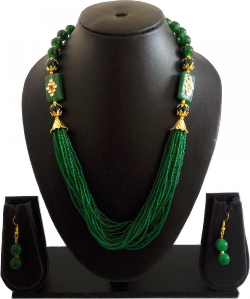 Mother of Pearl Jewel Set  (Green, White)