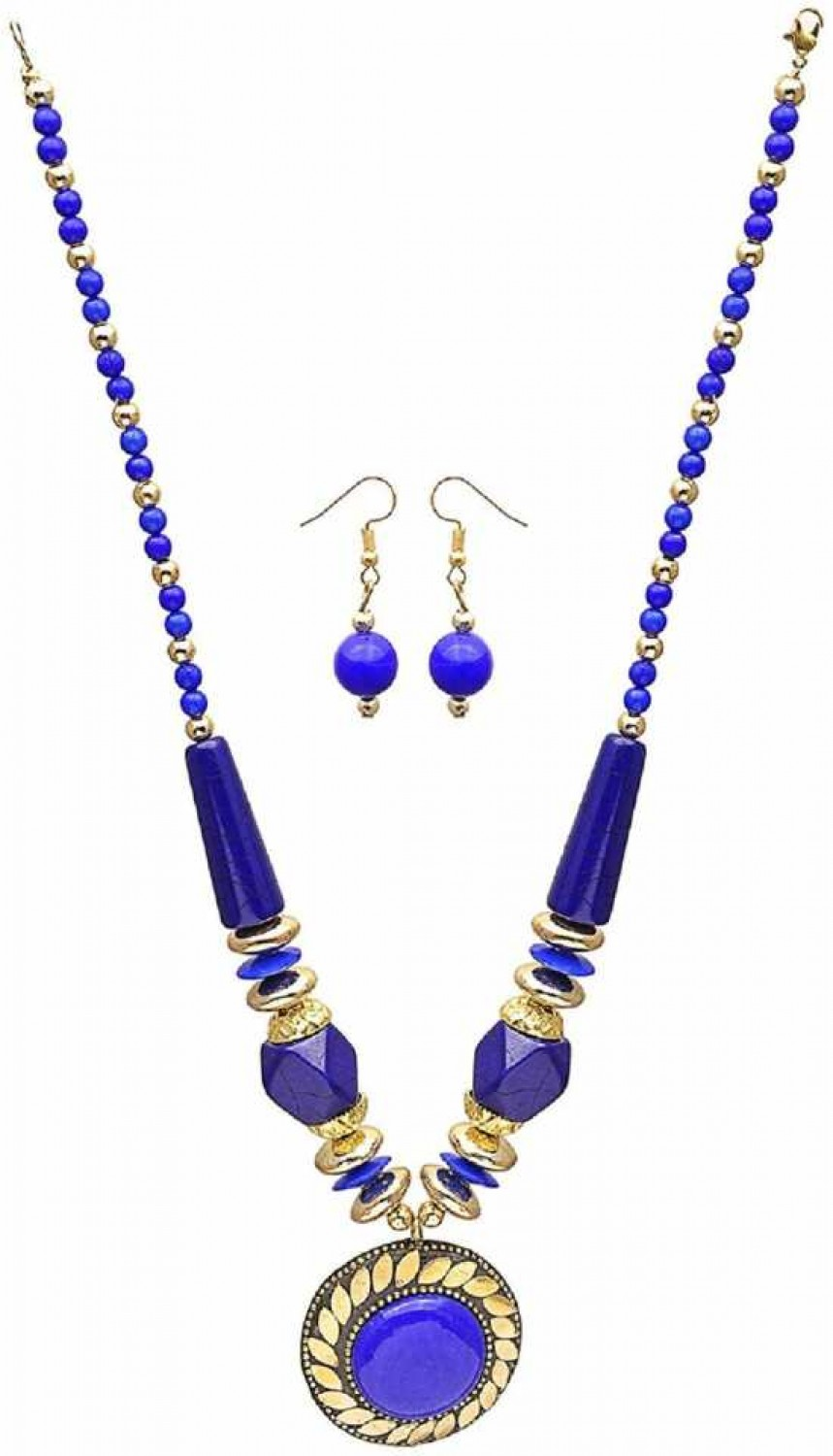 Mother of Pearl Jewel Set  (Blue)