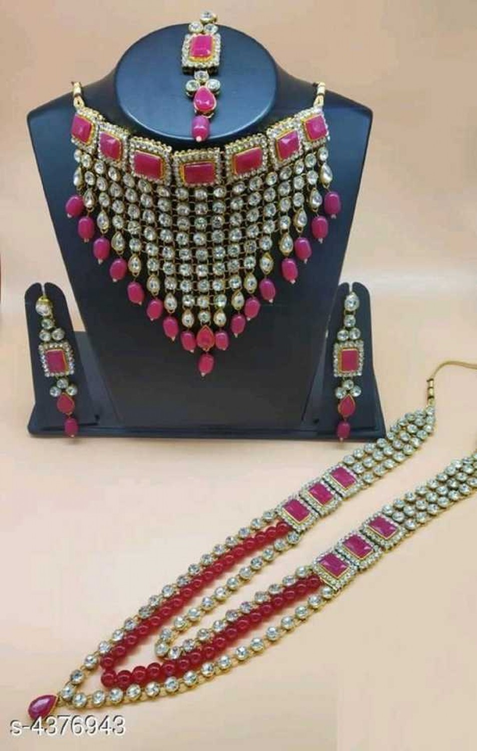 catalyst venture  Alloy Gold-plated Jewel Set  (Pink)