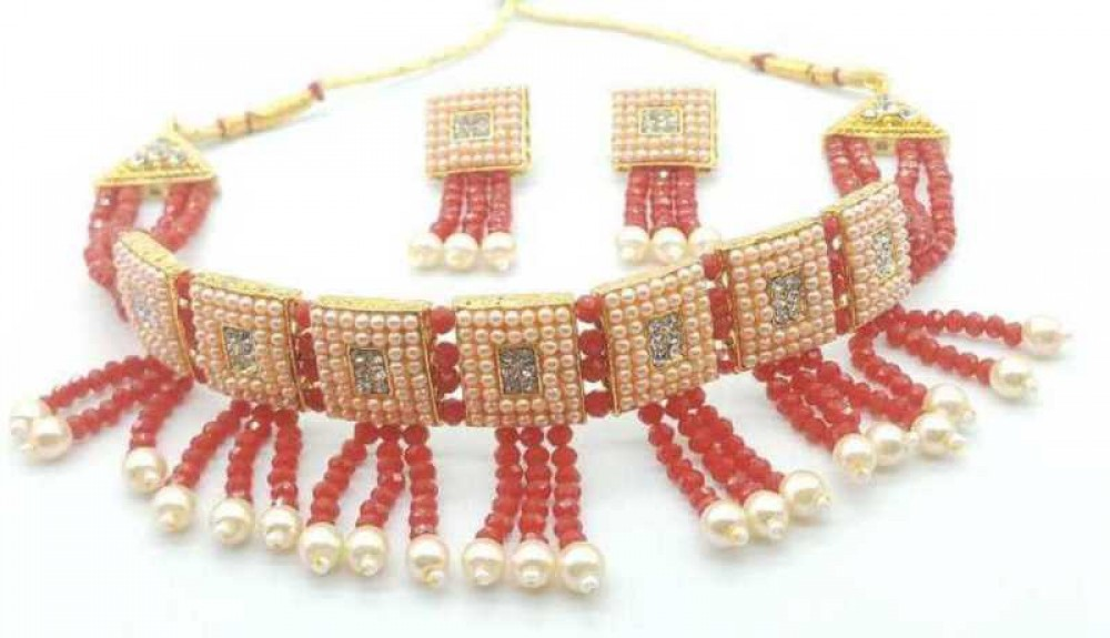 catalyst venture  Alloy Gold-plated Jewel Set  (Red, White)