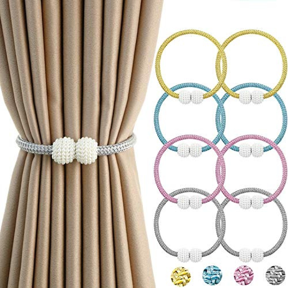 Polyester Modern Curtain Tieback Clips  Standard  Random Color  Pack of 4