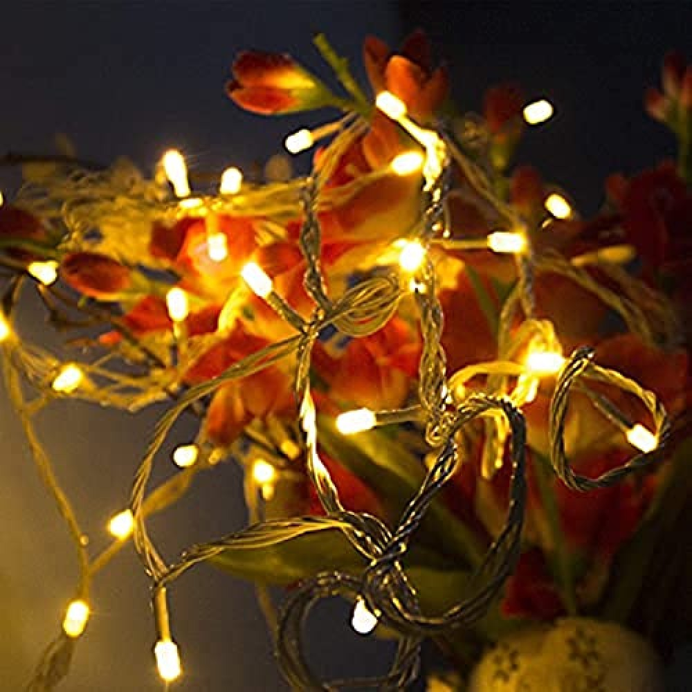 10 Meter Decorative LED String Light Plug Sourced  for Indoor  amp  Outdoor Decorations  Warm White  Pack of 1