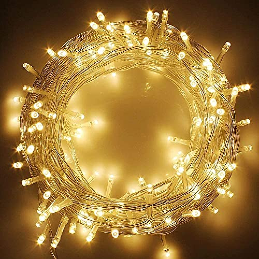 40 Feet LED Decorative String Light  for Indoor  amp  Outdoor Decorations  Warm White  Pack of 1   Standard  Lex-String 40Feet