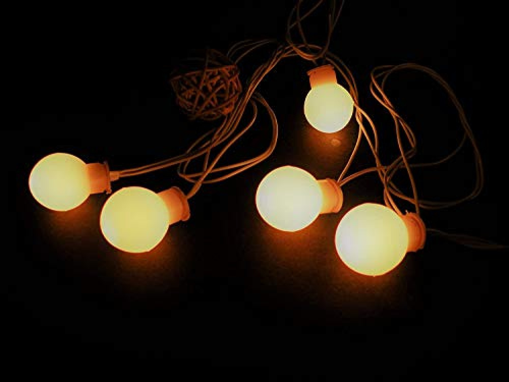 8 Meters Small Ball Copper Wire String Lights  for Indoor  amp  Outdoor Decorations  Warm White  Pack of 1   Standard  Lex-Balllight 8m   Multicolor