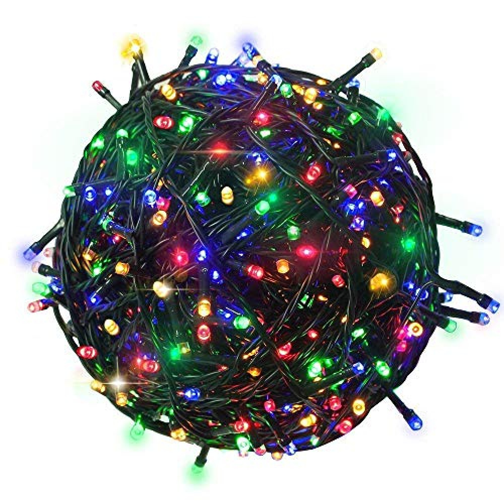 200 LEDs 45 M Fairy String Tree Twinkle Lights with 8 Modes  for Indoor  amp  Outdoor Decorations  Multicolor  Pack of 1   Standard  Lex-200led tree