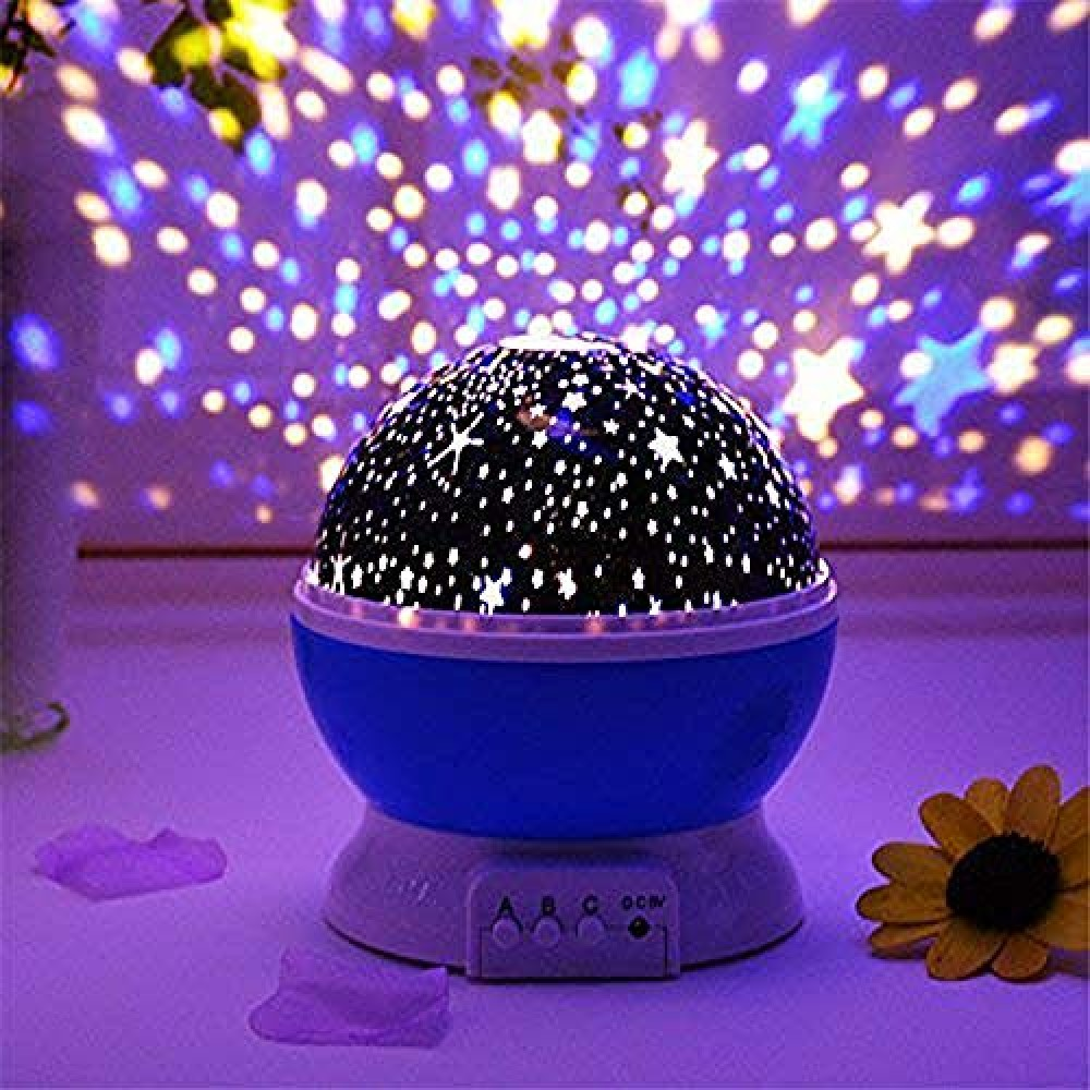 Star Projector Night lamp Rotating 4 Mode Sky Star Master Mini Lamp USB Powered   for Indoor Decorations  Multicolor  Pack of 1   Standard  Lex-Projector MiniLamp