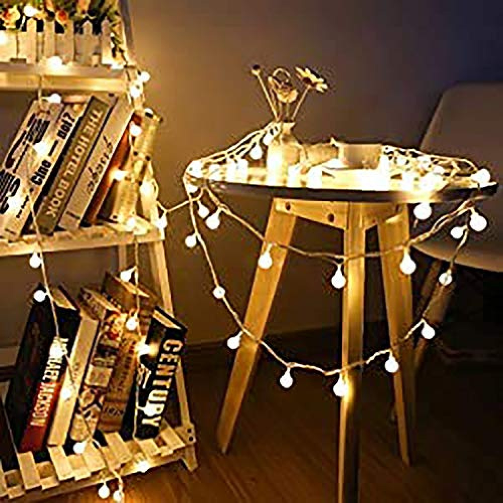 3M 20 LED Fairy String Lights Battery Operated in Small Size Ball-Shaped LED String Lights for Decoration  Battery Not Included   Warm White  Pack of 6