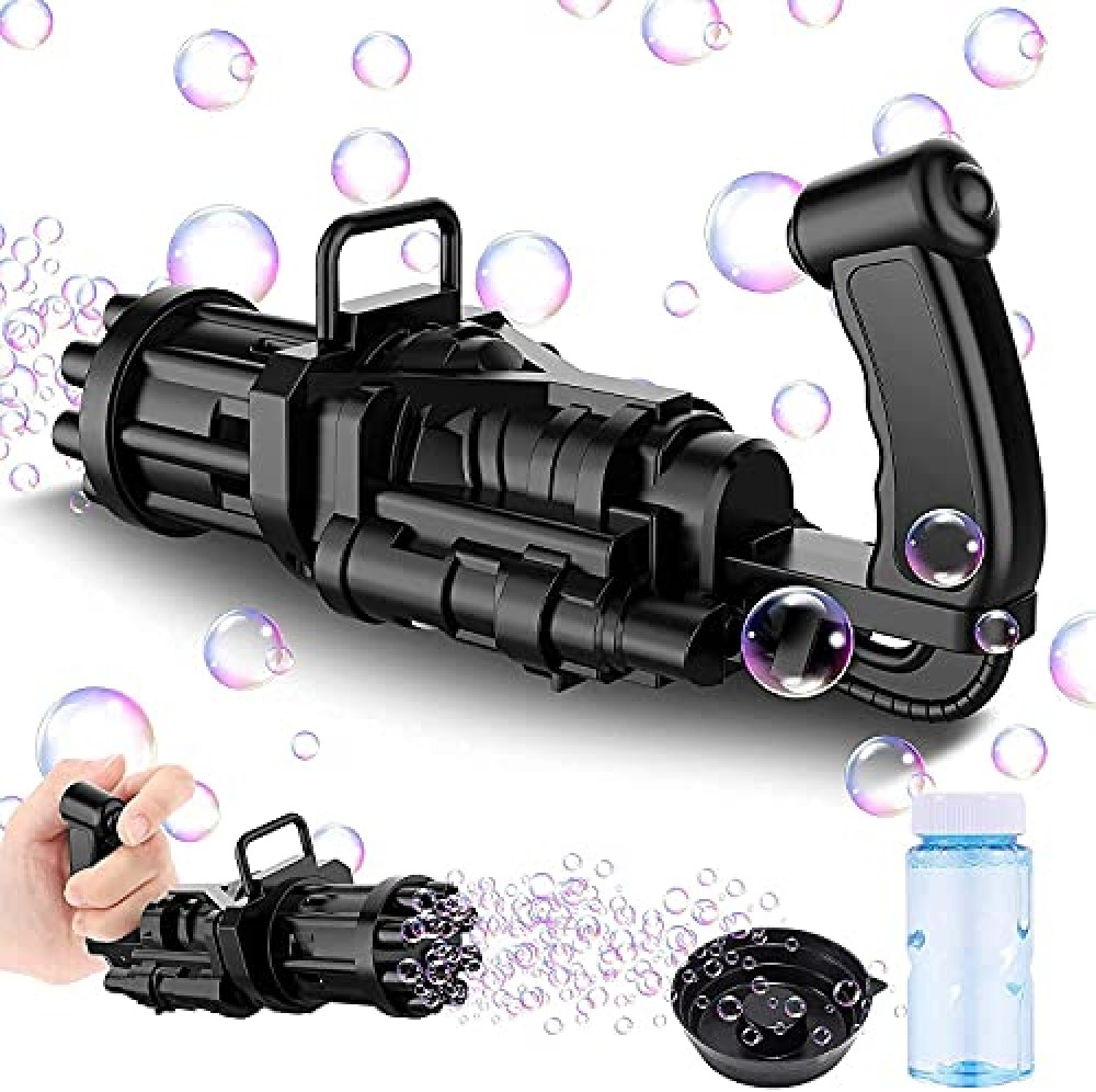 Electric Bubbles Gun for Toddlers Toys  New Gatling Bubble Machine Outdoor Toys for Boys and Girls  Pack of 1