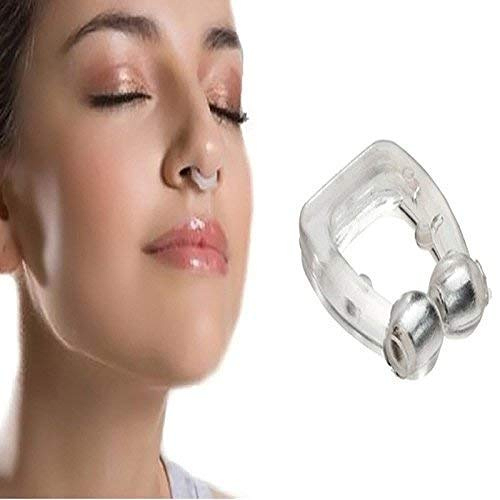 Snore Free Nose Clip Anti Snore Free Sleep Silicone Magnetic Nose Clip Anti Snoring device Set Of 1   Nose Clip
