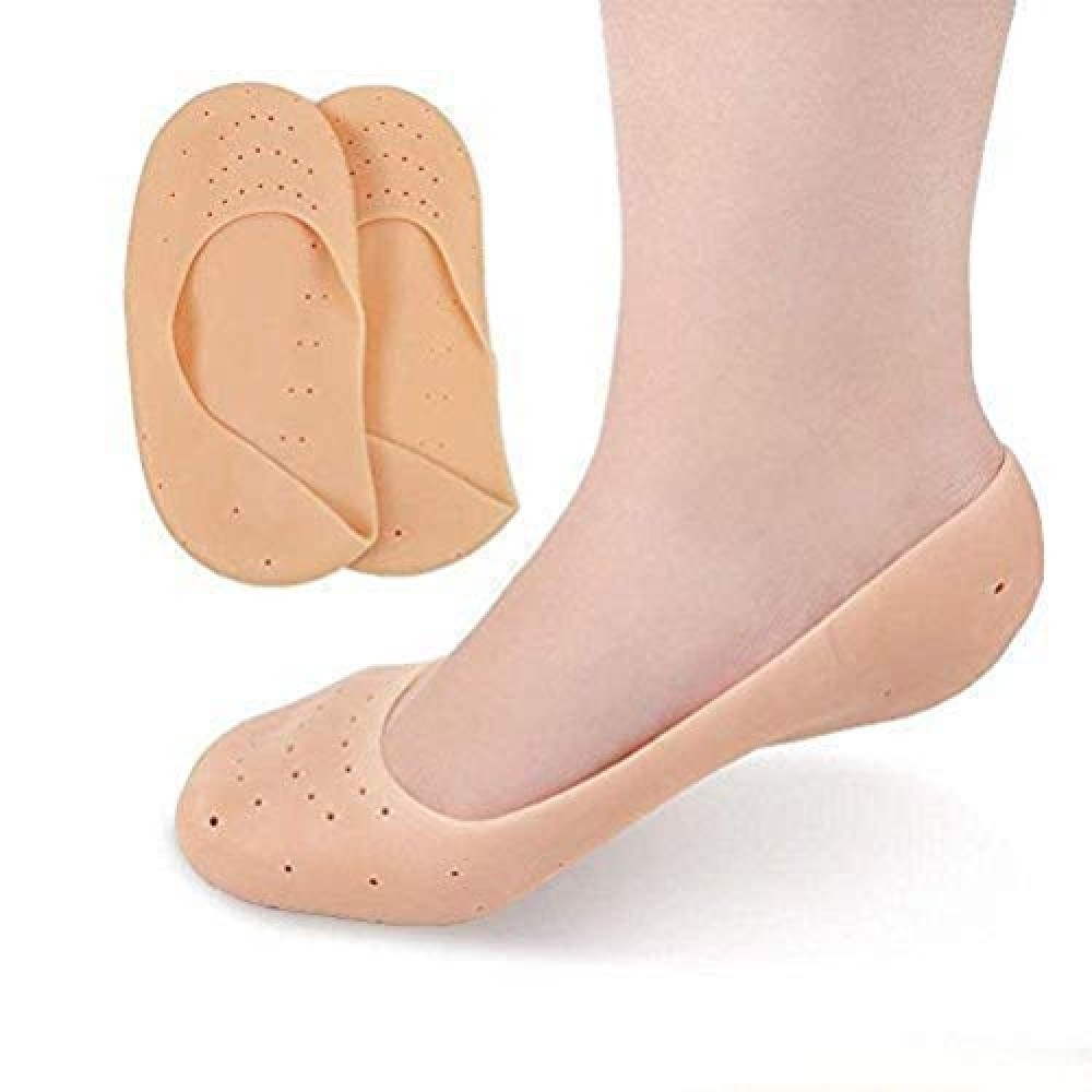 ARWHONEST Anti Crack Full Length Silicone Foot Protector Moisturizing Socks for Foot-Care and Heel Cracks