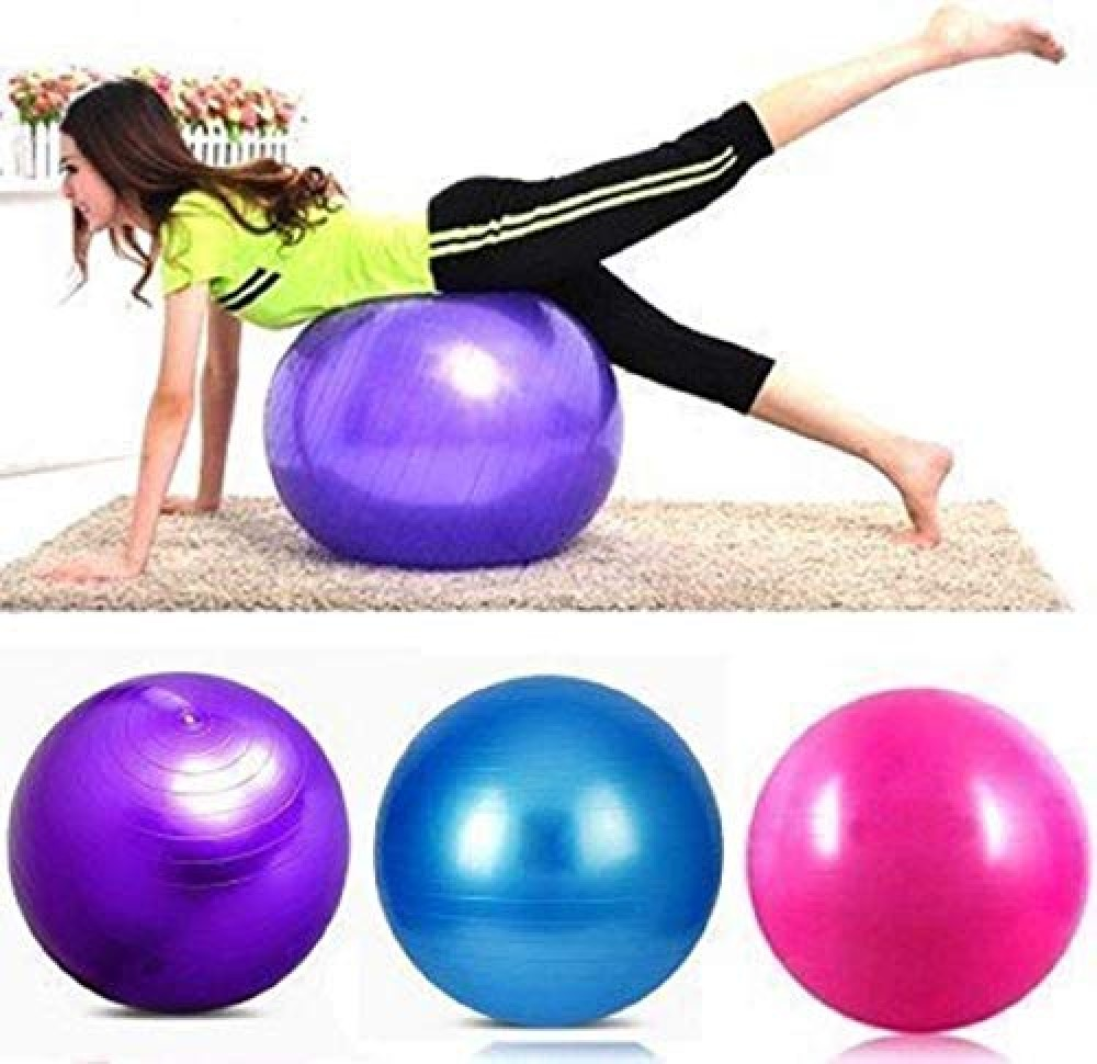 Exercise Heavy Duty Gym Ball Non-Slip Stability Ball Anti Burst Yoga Ball Balance Ball Extra Thick Fitness Ball for Home  Gym  Office with Quick Pump