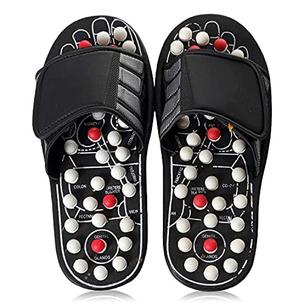 Spring Acupressure and Magnetic Therapy Accu Paduka Slippers for Full Body Blood Circulation Natural Leg Foot Massager Slippers For Men and Women