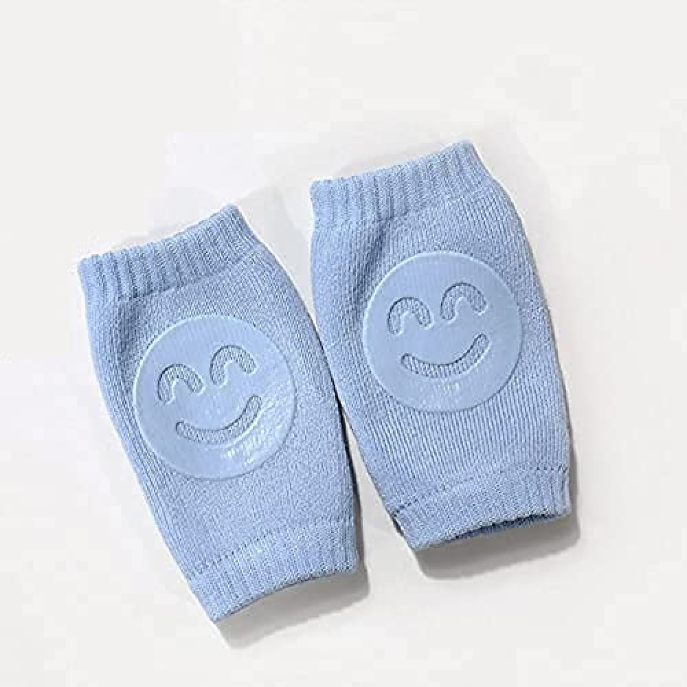 Smiley Baby Knee Pads for Crawling  Elbow Safety Protector  Stretchable Anti-Slip Padded Elastic Soft Cotton Breathable Comfortable Cap Leg Warmer Support Protector Kneecap for Kids  1 Pair