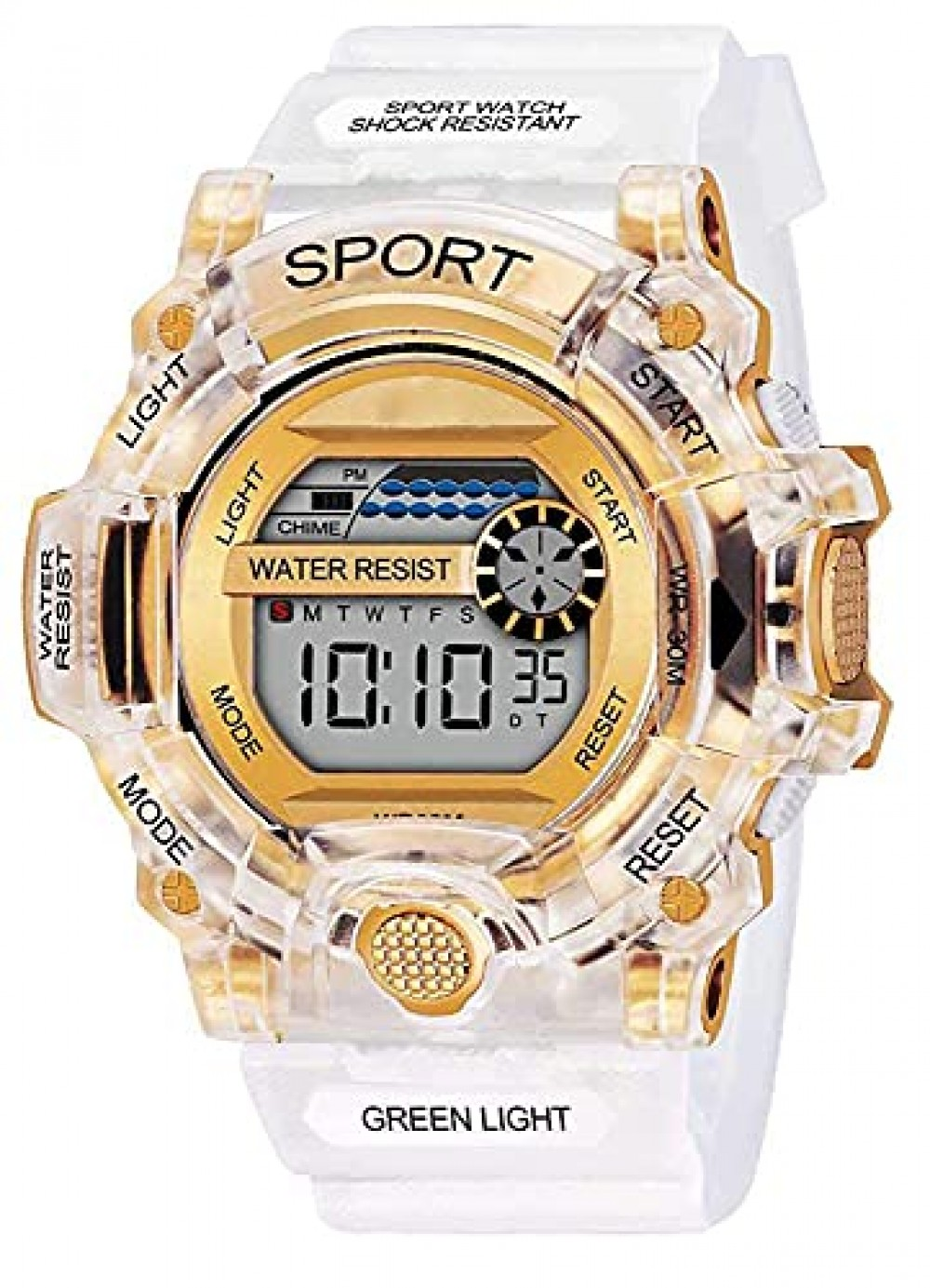 Transparent Strap Watch Heavy Quality Digital Alarm Shockproof Multi-Functional Automatic Waterproof Digital Sports Watch for Men  39 s Kids Watch for Boys
