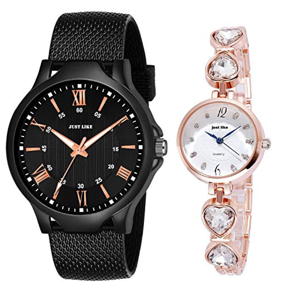 Analogue Girl  39 s Watch Black And White Dial Multicolor Colored Strap -Watch