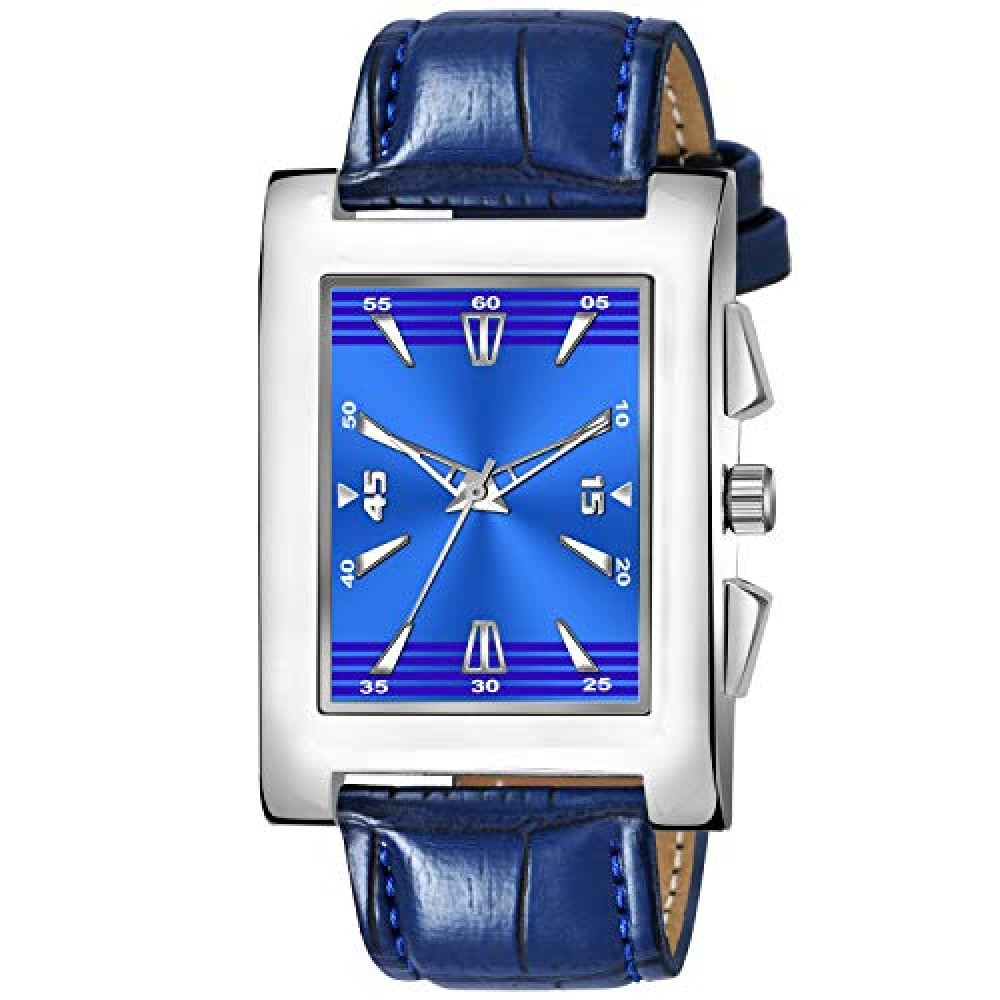 Square Dial Leathers Strap Wrist Watch for Boy and Men Watch