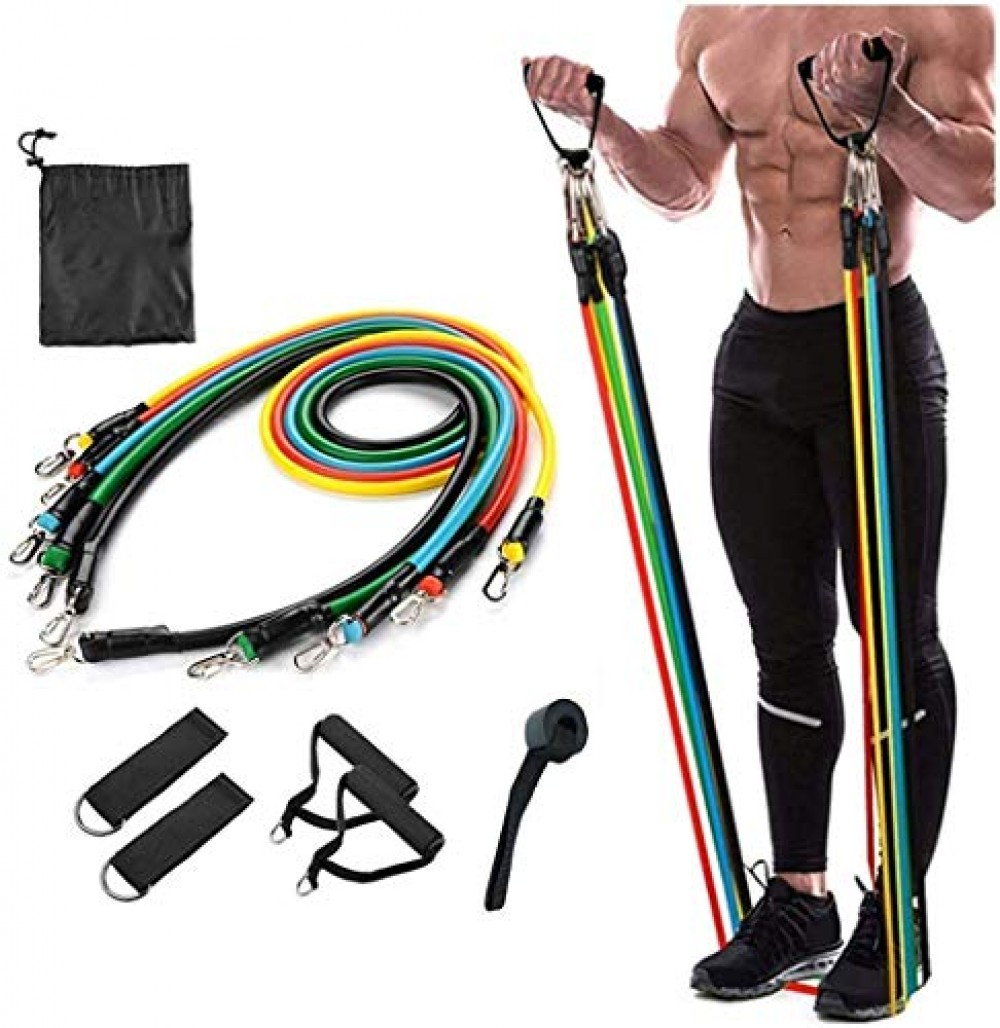 Resistance Exercise Bands with Door Anchor  Handles  Waterproof Carry Bag  Legs Ankle Straps for Resistance Training  Physical Therapy  Home Workouts  Resistance Band