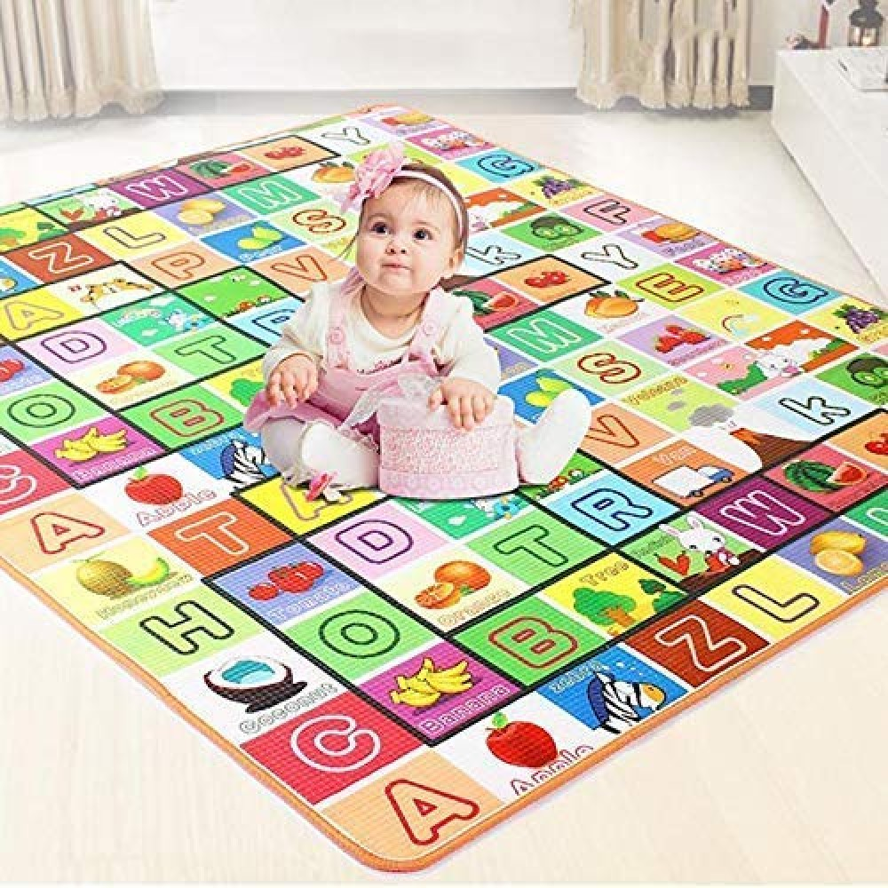 Double Sided Water Proof Baby Mat Carpet Baby Crawl Play Mat Kids Infant Crawling Play Mat Carpet Baby Gym Water Resistant Baby Play  amp  Crawl Mat  Large Size - 6 Feet X 4 Feet