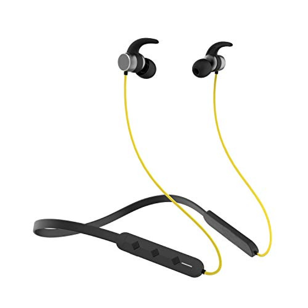 Wireless Earphones Headphones for Motorola Moto E7 Power Sports with Deep Bass and Neckband Hands-Free Calling inbuilt Mic Headphones with Long Battery Life and Flexible Headset  259R Black