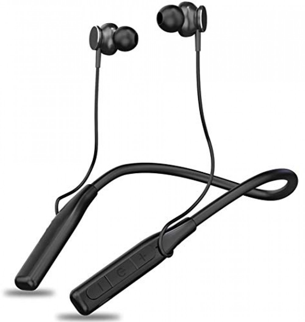 Wireless Earphones Headphones for LG G7 ThinQ Sports Bluetooth Wireless Earphone with Deep Bass and Neckband Hands-Free Calling inbuilt Mic Headphones with Long Battery Life and Flexible Headset  A 8 Black