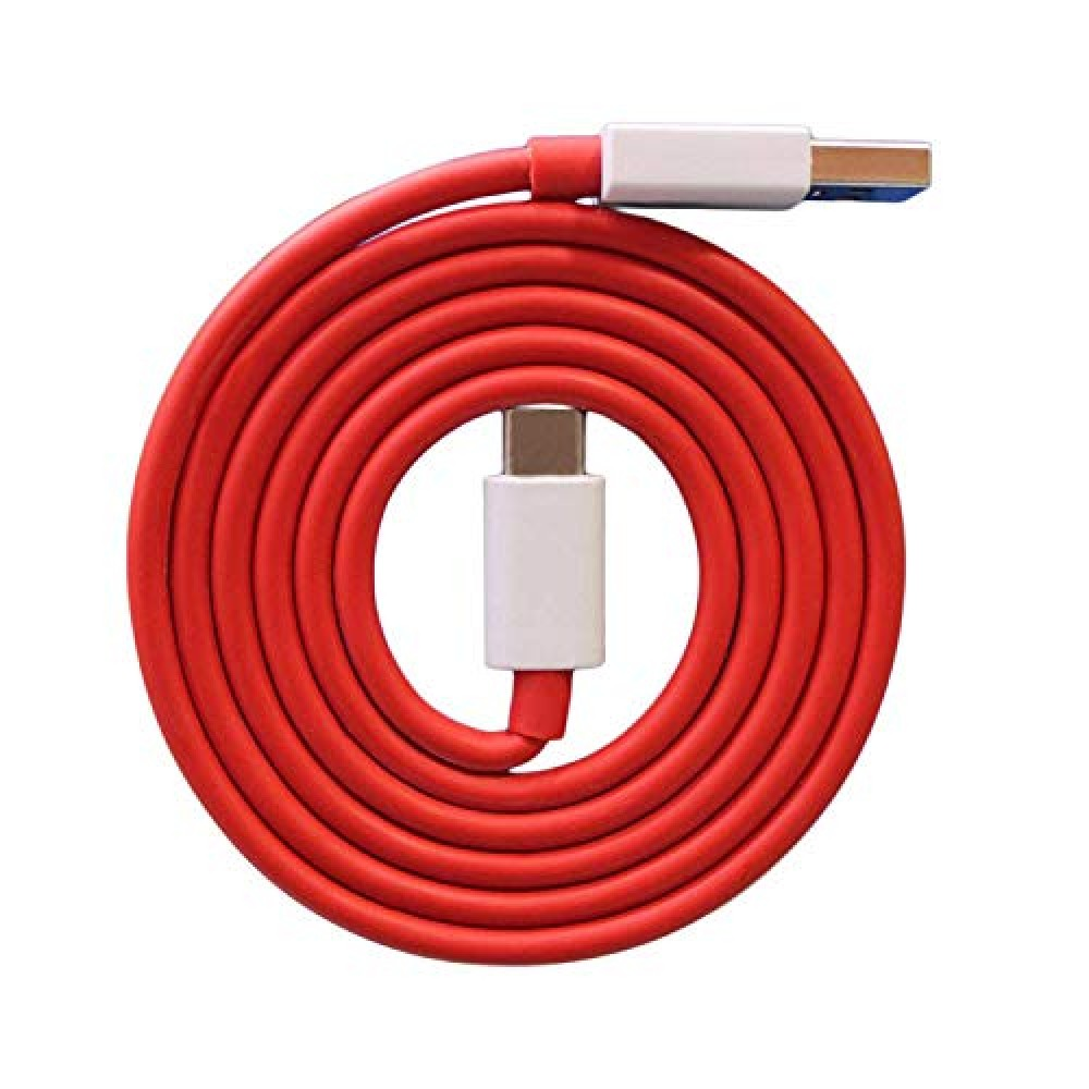 Type C USB Cable for Mi 9 USB Cable   Data Sync Cable   Rapid Quick Dash Fast Charging Cable   Charger Cable   Type-C to USB-A Cable  3 1 Amp  1 Meter 3 3 Feet  DS2  Red