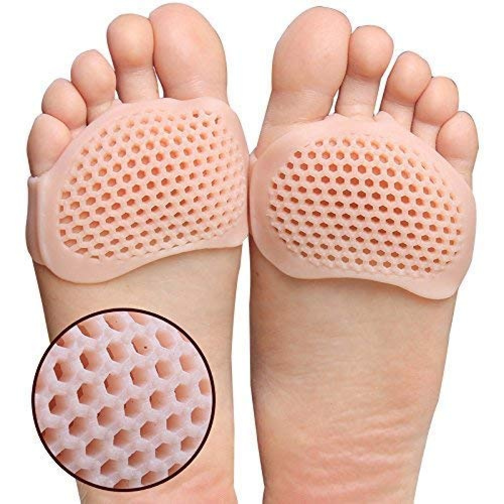 Soft Silicon Gel Half Toe Sleeve Forefoot Pads for Pain Relief Heel Front Socks  PAIR 1