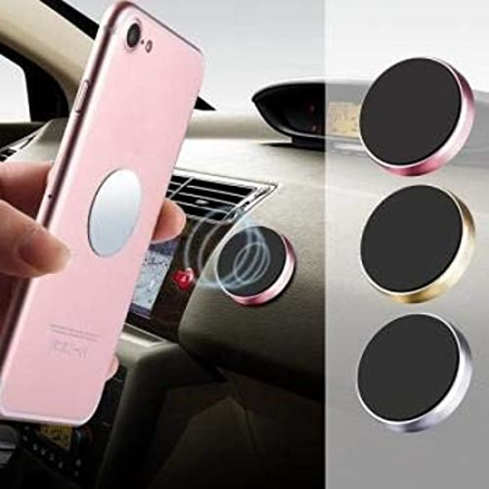 Mini Magnetic Car Dashboard Mount Mobile Phone Holder with Metal Body