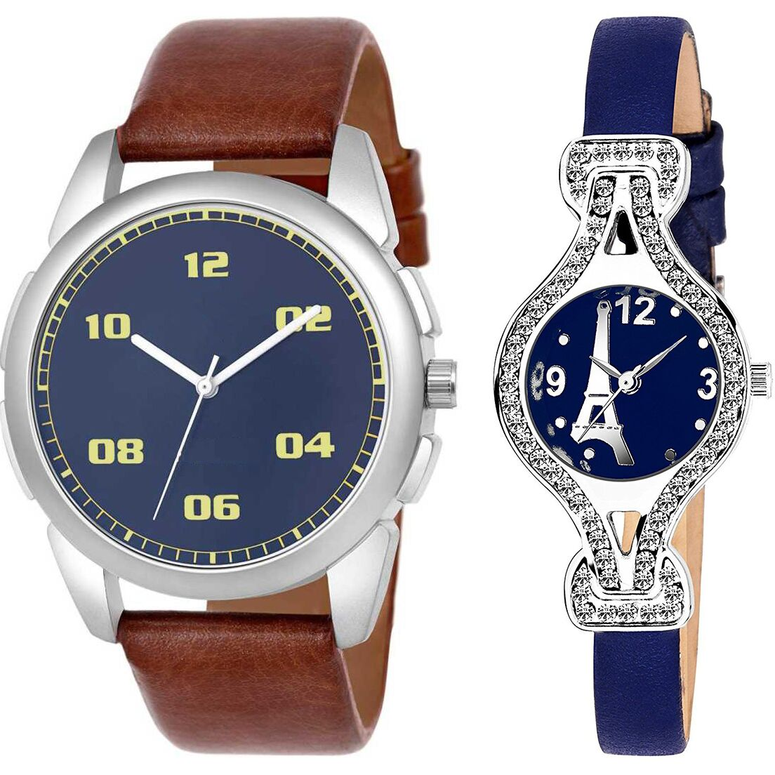 SENJARYA TIMES Blue Dial  New Stylish Couple Watch For Men And Women DR268