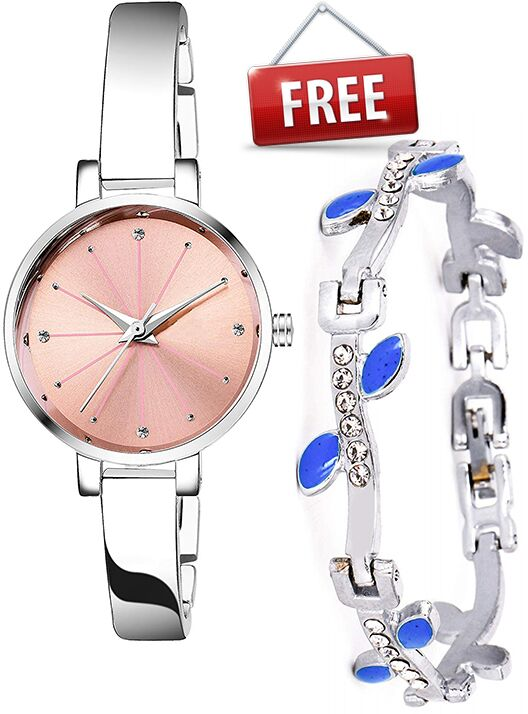 Senjarya Times  present Buy 1 Women's Watch And Get 1 Fancy Bracelet Free  ST66